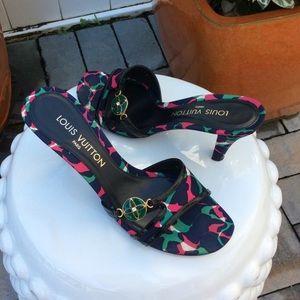 Louis Vuitton Multicolore Slide Sandals
